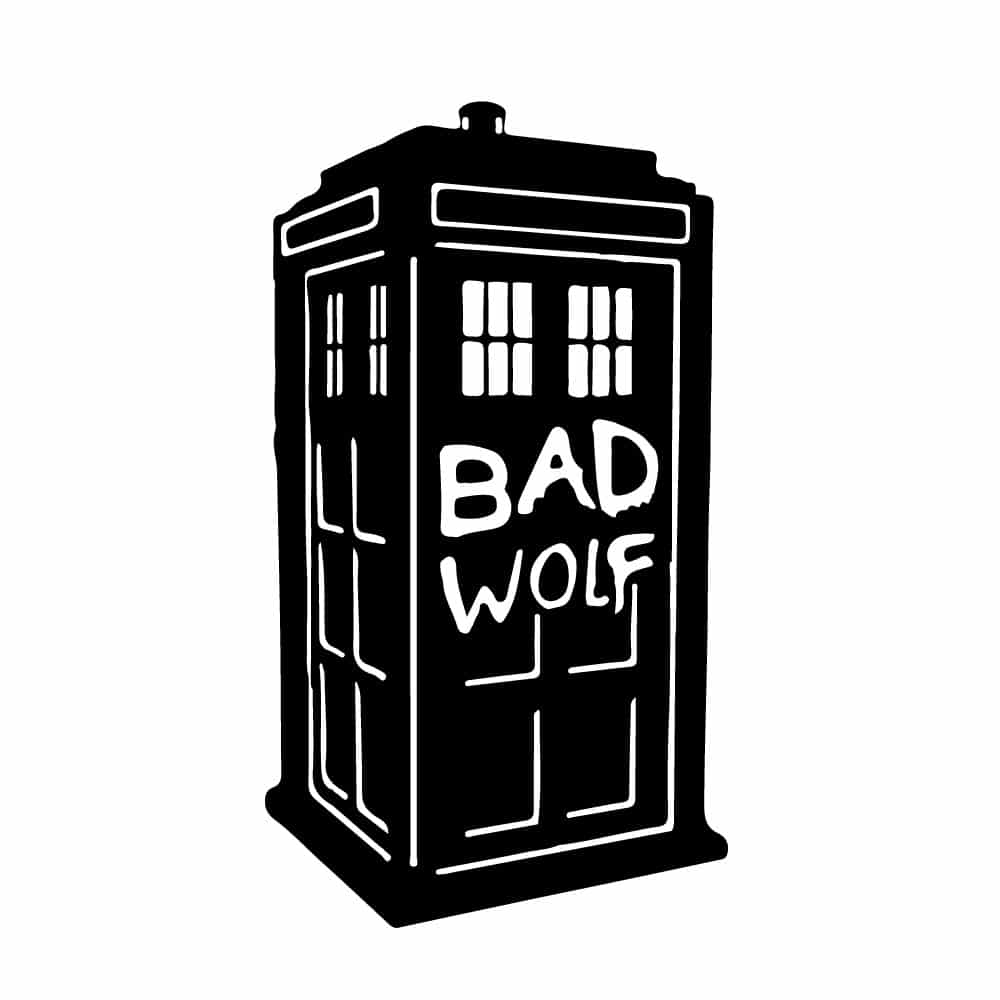 Choose Your Color Decal Bad Wolf Tardis Vinyl Decal Doctor Who Inspired Car Decal Tardis Laptop Sticker Bad Wolf