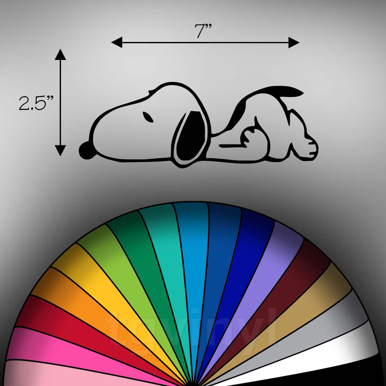 "Snoopy Peanuts Vynil Car Sticker Decal 2.5/"""